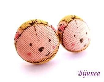 Bear earrings - Brown bear stud earrings - Bear studs - Bear posts - Brown bear post earrings sf536