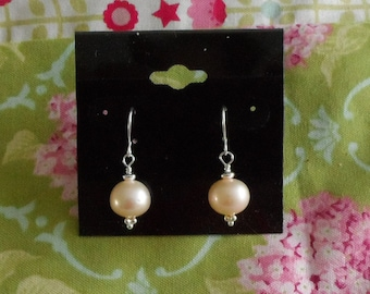 Champagne Freshwater Pearl Earrings