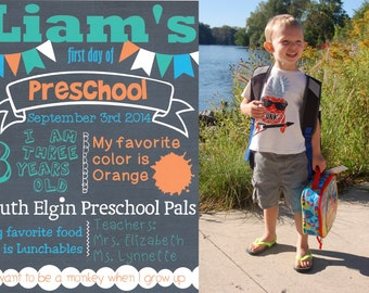 First Day of School Personalized Printable