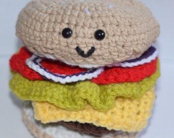 Crochet Amigurumi Cheeseburger