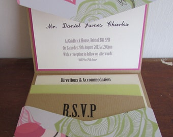 Summer Brights Wedding Invitation