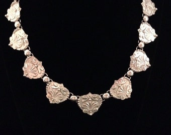 Hand Fabricated Sterling Silver Taxco Inspired Necklace