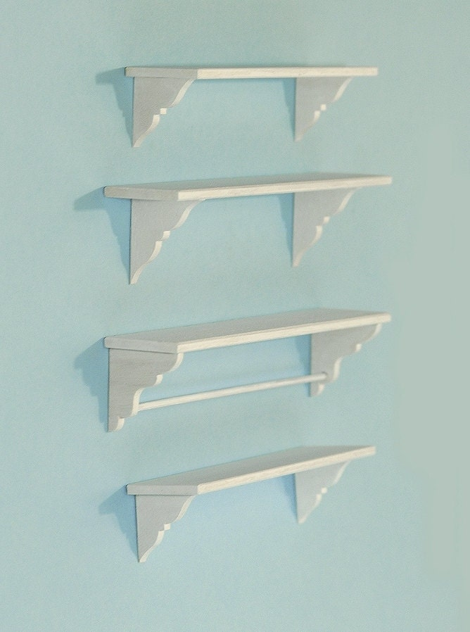1 6 scale shabby chic kitchen set of 4 shelves