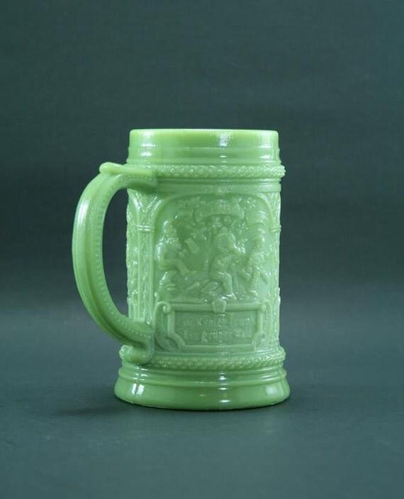 Vintage Jadeite Stein Or Mug Green Glass Beer Stein Jade