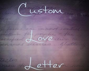 Custom, Hand-written Love Letter