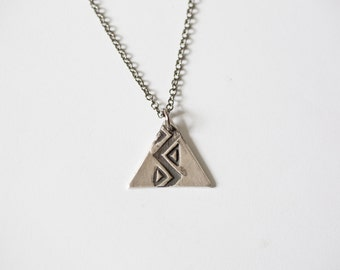 Geometric Triangle Necklace - Triangle Necklace - Geometric Necklace - Bohemian Jewelry - Bohemian Necklace - Long Triangle Necklace