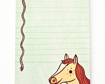 HORSE gift ideas LUCKY gift PONY decor boygirlparty horse stationary horse stationery horse note pad horse party favors gift for horse lover