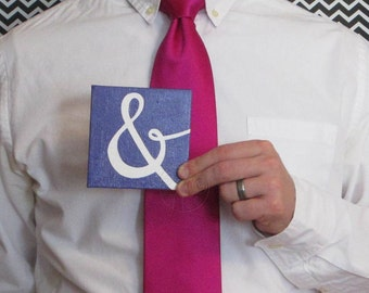 SALE - Ampersand 4x4 purple acrylic painting with FREE SHIPPING!