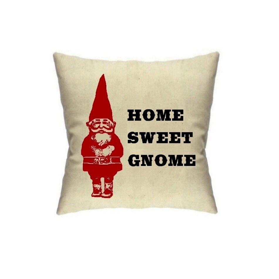 Gnome Pillow Home Decor Gnomes Housewares Fun Cushions Linen