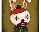 Funny Bunny, archival print of original illustration by Anna Tillett Designs