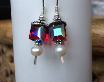 Glam Red earrings