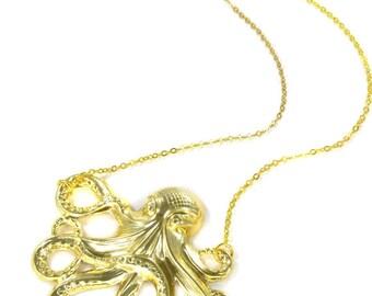 Birdhouse Jewelry- Octopus Necklace