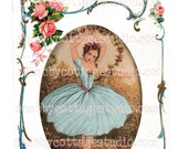INSTANT DOWNLOAD DIGITAL Sheet Ballerina Dream Dance Great for Iron on Transfer Cards Scrapbooking