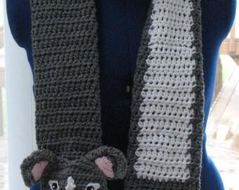 Crochet Pattern - Pit-Bull Scarf Pattern - Pitbull - Pit Bull Pattern - Men's Scarf - Women's Scarves - Dog Lover Gift - Pit Bull Mom