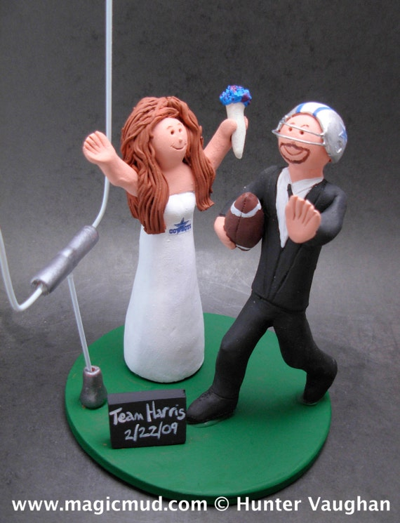 nfl wedding cake toppers football wedding cake topper custom made to order nfl 17840