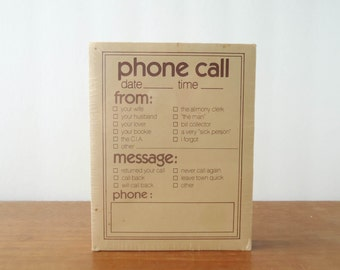 Funny Phone Message Pad FREE SHIPPING