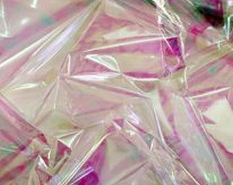 Clear Iridescent Mylar 7.5x7.5 - 10 sheets per order