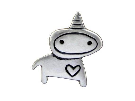 Sterling Unicorn Necklace - Silver Unicorn Pendant or Charm