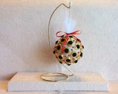 Velvet Button Christmas Ornament