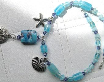 Beach Theme Shells Pendant Necklace