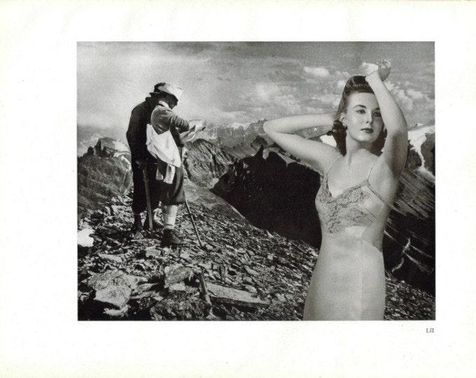 Original Art, Black and White Artwork, Scenic Mountain Landscape