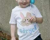 EASTER BUNNY T-Shirt Personalized Applique Boutique Custom
