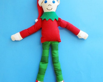 Christmas Elf Pattern - How to Make an Elf Doll - PDF tutorial sewing