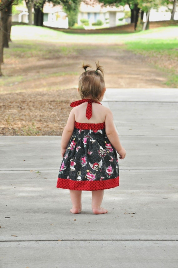 Baby and Toddler Dress Pattern - Sweet Summer Halter Dress - PDF Sewing Pattern
