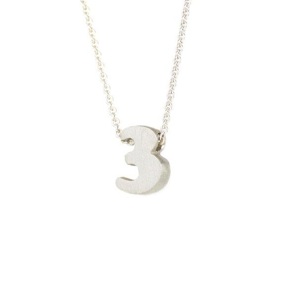 3 - block number necklace
