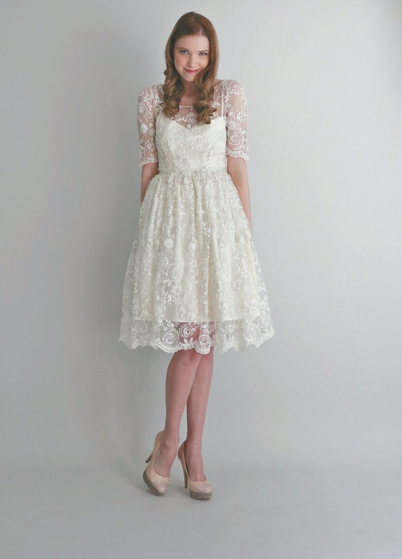 Sample sale 2 piece hand beaded lace and silk wedding dress for Hand beaded wedding dresses