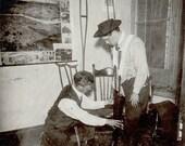 vintage photo RARE Medical Man Doctor Fake Leg Prostheses Crutches Early Map Portland Oregon