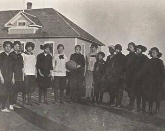 vintage photo 1915 Dayton Wyoming Elementary School Children