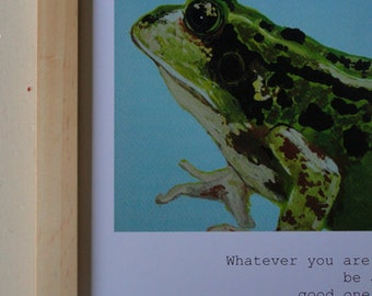 Abraham Lincoln Quote / Frog (8.5 x  11 Print)