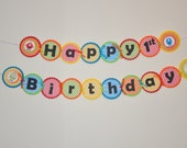 Monster Happy Birthday Banner.  Birthday Banner. Boy Party. Girl Party. Monster Bash. 2 Layers.