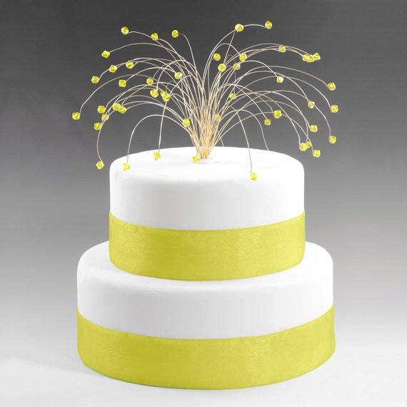 wedding cake toppers sparklers items similar to wedding cake topper gold with citrine 26597