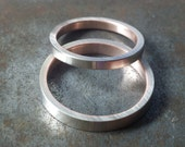 White and Rose Gold Wedding Bands - Seamless