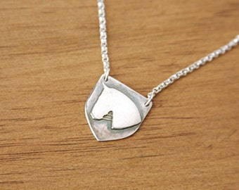 Silver Horse Necklace Recycled Silver Pendant Dressage Jewelry Equestrian Necklace Sterling Silver Chain Warmblood Horse Head