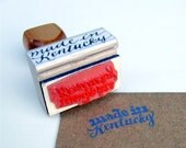 made in Kentucky Rubber Stamp, Calligraphy Stamp, Rustic Country Wedding Stamp, DIY Packaging, State Stamp