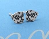 Pug Jewelry // Sterling Silver Earrings - Beauty design