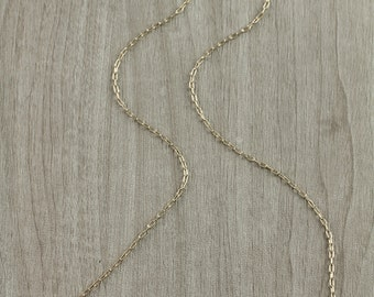 Hammered Bar Two Toned Necklace