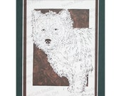 Cairn Terrier Papercutting- Handcut Original