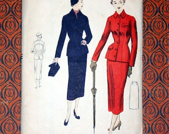 6888 VOGUE 1950's Dress Suit Sewing Pattern - Size 14