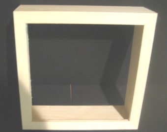 Shadow box frame unfinished 10x10 made in the USA