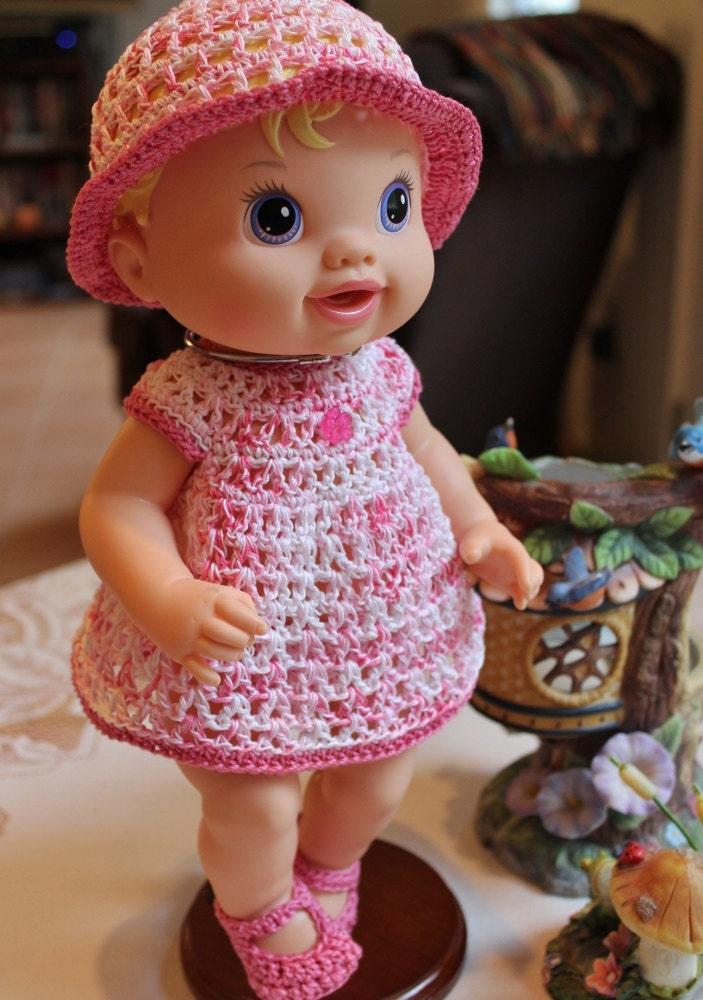 Crochet outfit Baby Alive Princess or New Teeth 12 13 inch