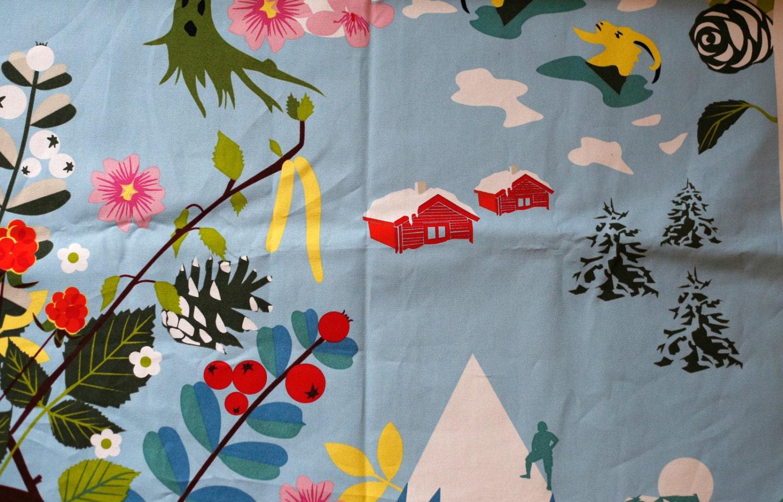 Ikea Godmorgon Cabinet Installation ~ Ikea designer fabric Annamoa Mountain Scene Fabric by shopatmoxie