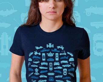 weGo Men's Tshirt (55 Celebrity Vehicles) on Black