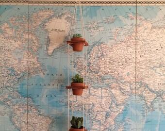 Redwood Pot Hanger - triple