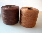 Conso Cord-154 Yards-77 Yds Each Spools-Qty 2-Knotting-Micro Macrame-Nylon Beading Cord-Craft Supplies-Jewelry Making
