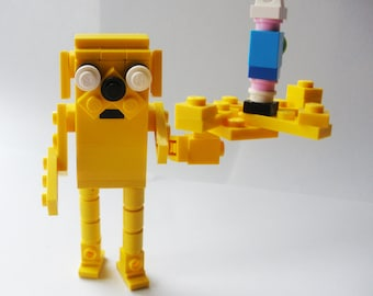 Jake the dog and Finn the human, Adventure Time inspired LEGO creation