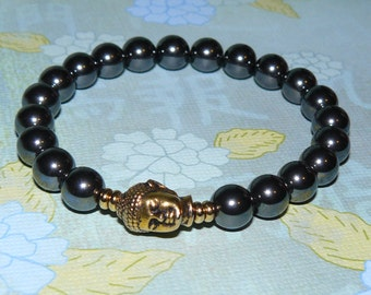 "Buddha Hematite ""Stone For The Mind"" Bracelet"